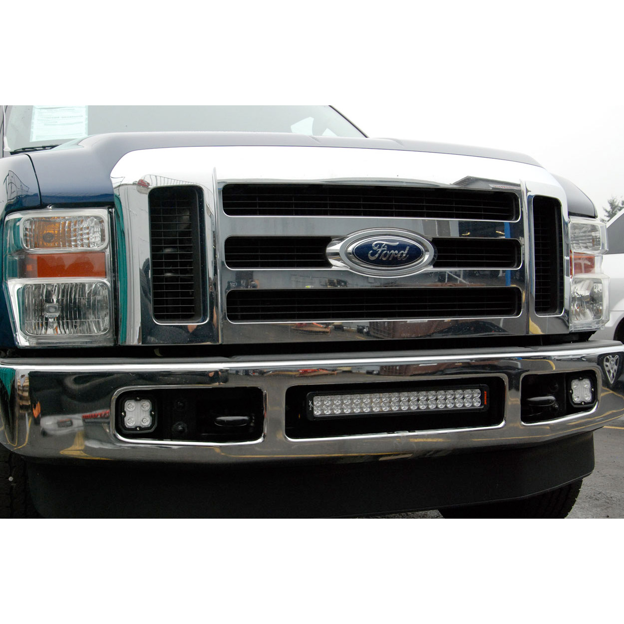 Ford superduty bumper mount for led light bar 2008 2010 xil bracket combined with a vision x 21 led bar which you can purchase here httpsvxwholesale21 xmitter prime xtreme vision x led light bars mozeypictures Images