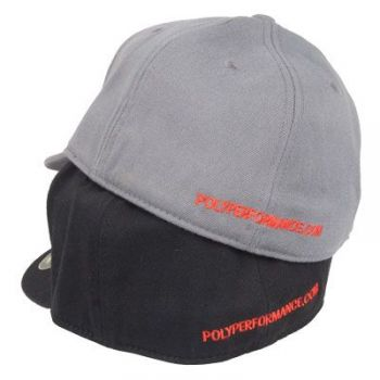 Poly Performance Puff Logo Hat, Flexfit 210 Fitted Series