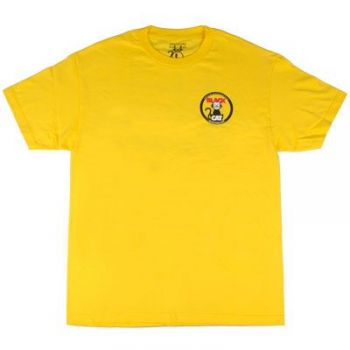 Poly Performance Black Cat Shirt, Yellow, Medium
