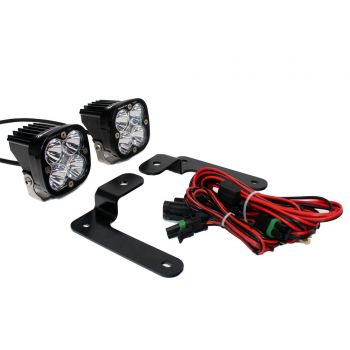 Baja Designs Jeep Wrangler JL A-Pillar Squadron Spot Light Kit