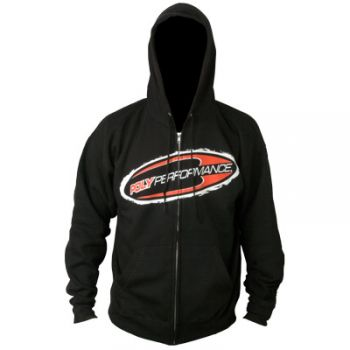 Poly Performance Logo Black Zip Up Hoodie