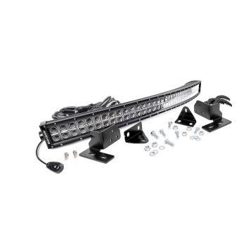 Rough Country Ford 40-inch Curved LED Light Bar Bumper Kit (11-16 F-250 Super Duty)