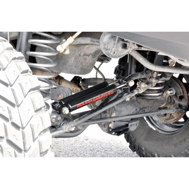 Jeep Steering Stabilizer >> Rough Country Jeep Tj Xj Dual Steering Stabilizer Poly Performance