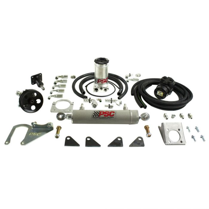 Psc Jeep Tj Wrangler Full Hydraulic Steering Kit Single Ended Cyl Poly Performance
