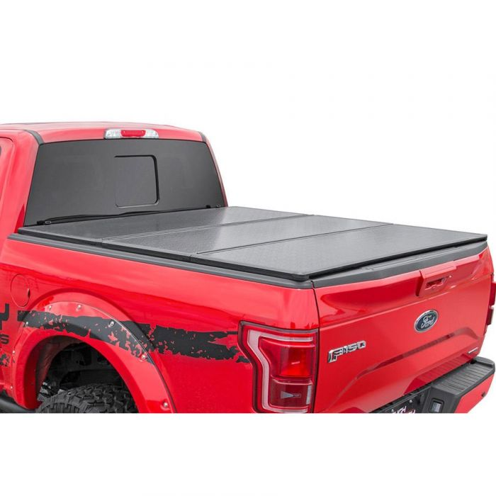 Rough Country 09 16 Dodge Ram 1500 Hard Tri Fold Bed Cover Poly Performance