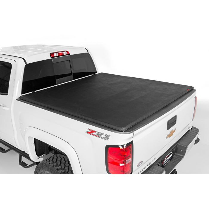 Tundra Bed Cover >> Rough Country 07 13 Toyota Tundra Soft Tri Fold Bed Cover Poly