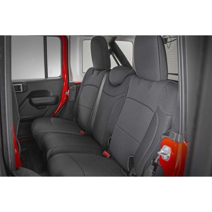 Rough Country 2018 Jeep JL Neoprene Seat Cover Set