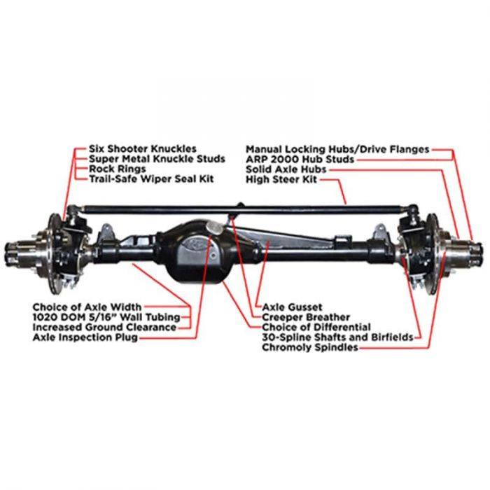 Trail-Gear Fully Built Rock Assault Toyota Front Axle | POLY